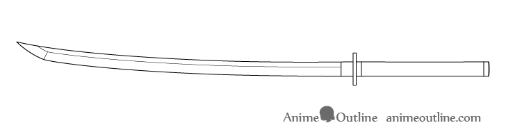 Katana blade edge drawing