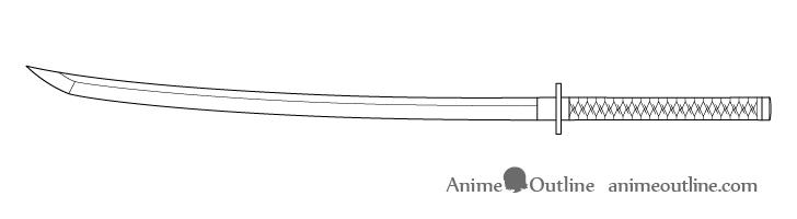 Katana line drawing