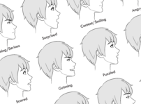How to Draw Anime Male Facial Expressions Side View