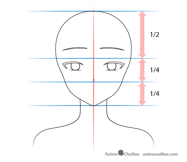 Beautiful anime girl nose drawing