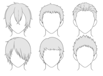 How to Draw Anime Male Hair Step by Step