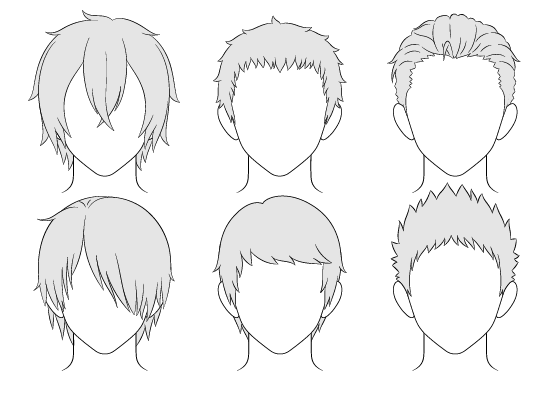 Anime male hairstyles