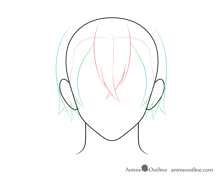 How To Draw Anime Male Hair Step By Step Animeoutline