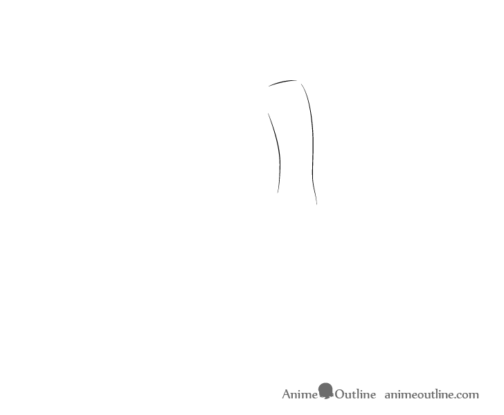 Anime aiming pose torso drawing