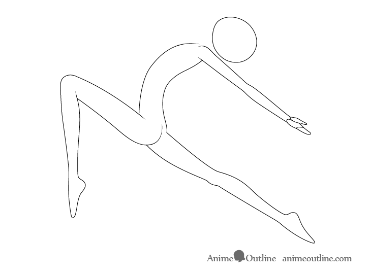 Anime ballet pose arms drawing