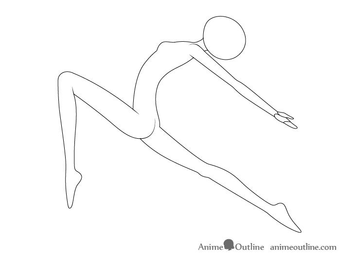 Anime ballet pose drawing