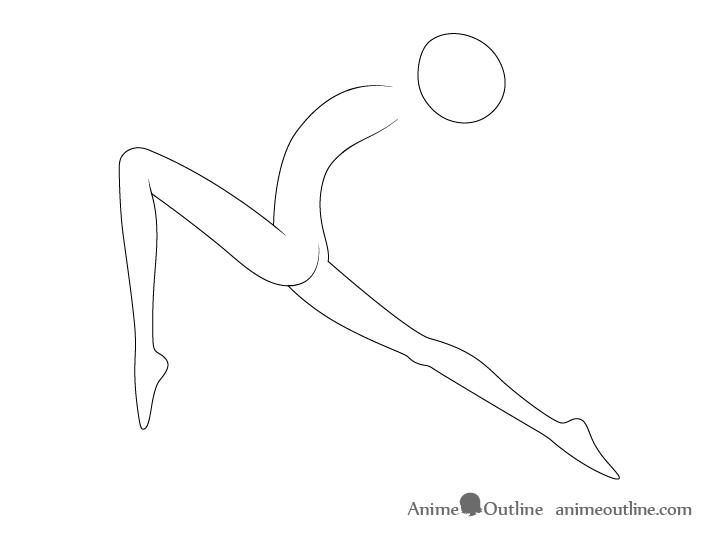 Anime ballet pose legs drawing