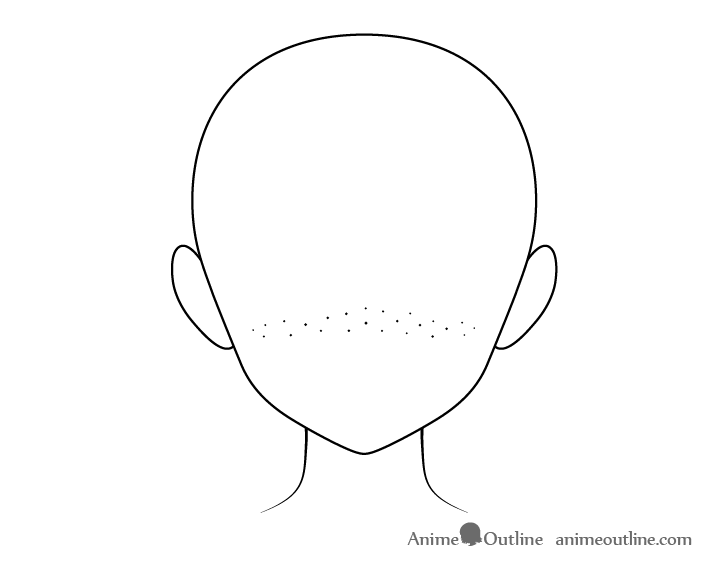 Anime freckles across face head drawing