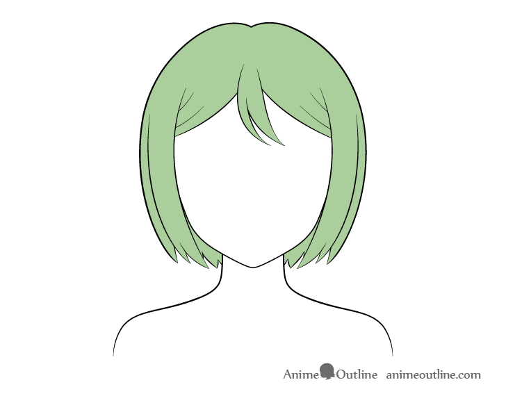 Anime combed hair coloring