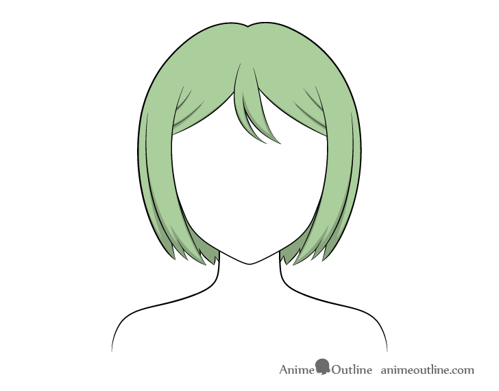 Anime combed hair shading