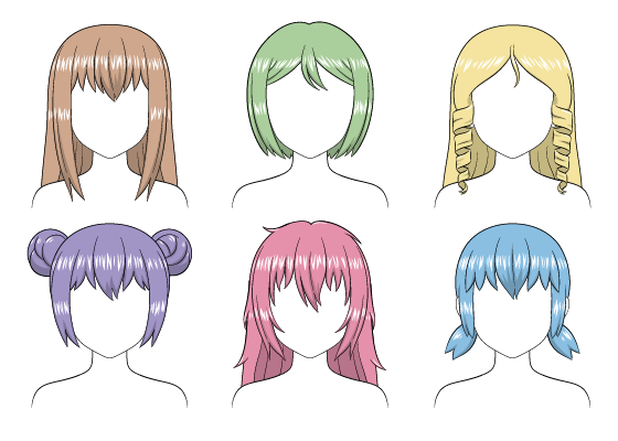 Anime hair shading