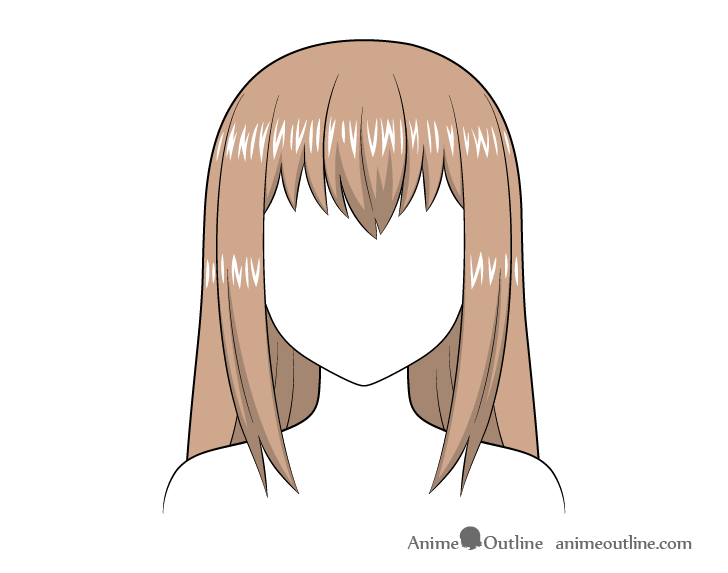 Anime long hair highlights
