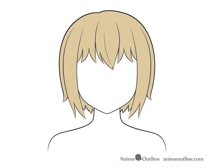 Anime short hair coloring