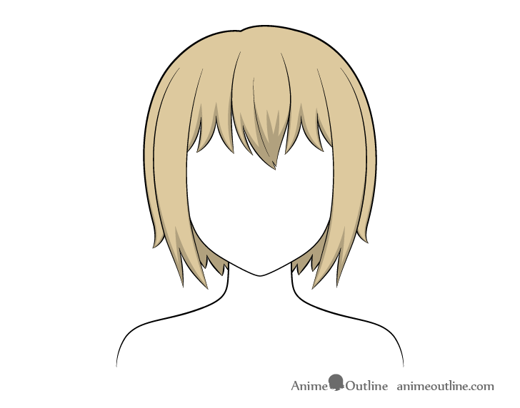 Anime short hair shading