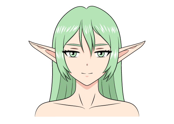 Anime elf girl