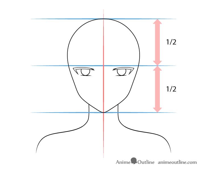Anime elf girl inner angled eyes drawing