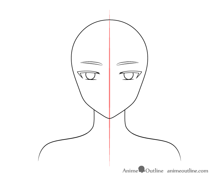 Anime elf girl lowered eyebrows drawing