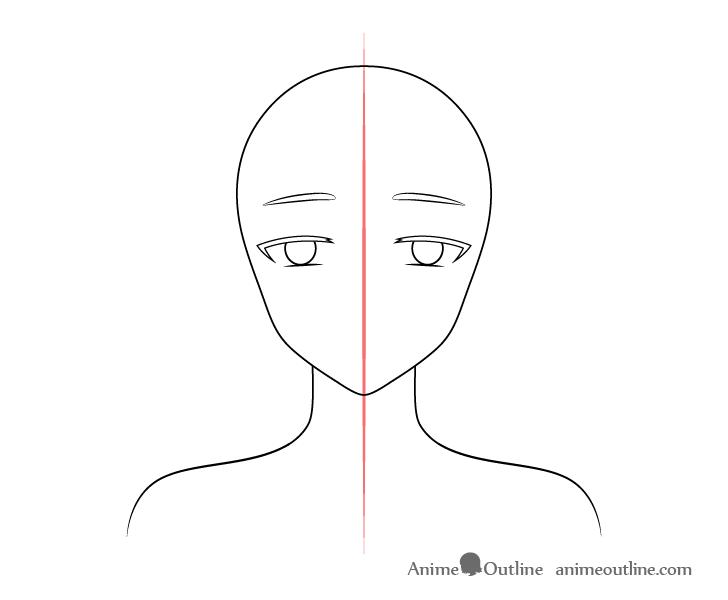Anime elf girl raised eyebrows drawing