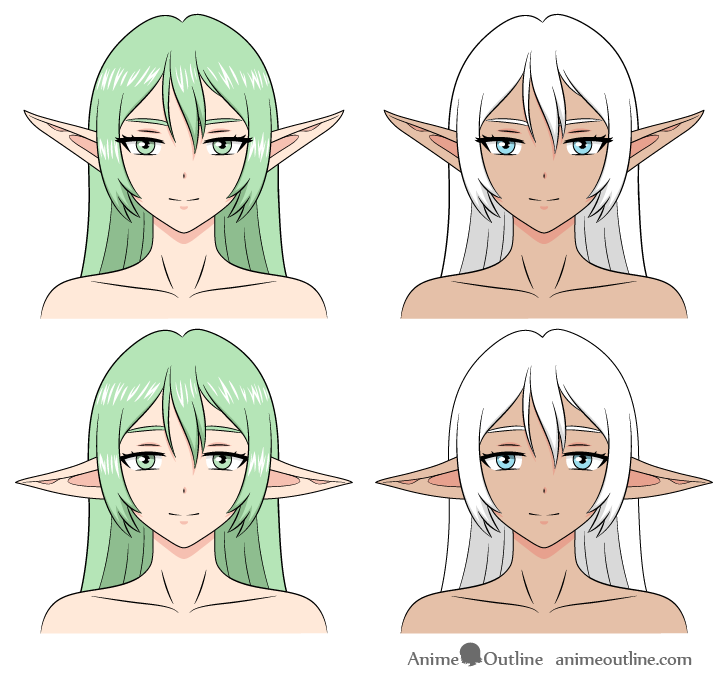 Anime elves drawing