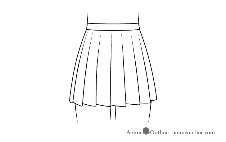 Anime school skirt drawing
