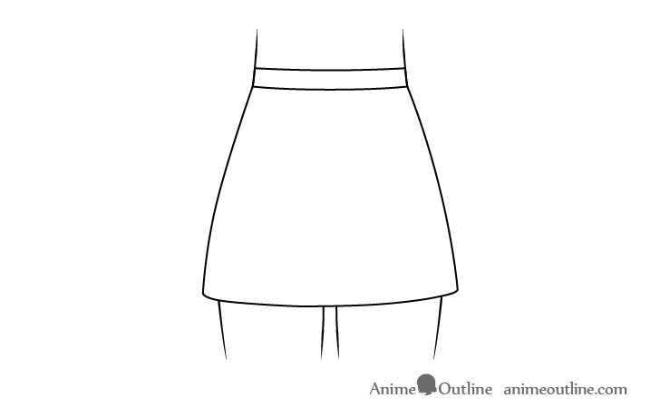 Anime skirt drawing