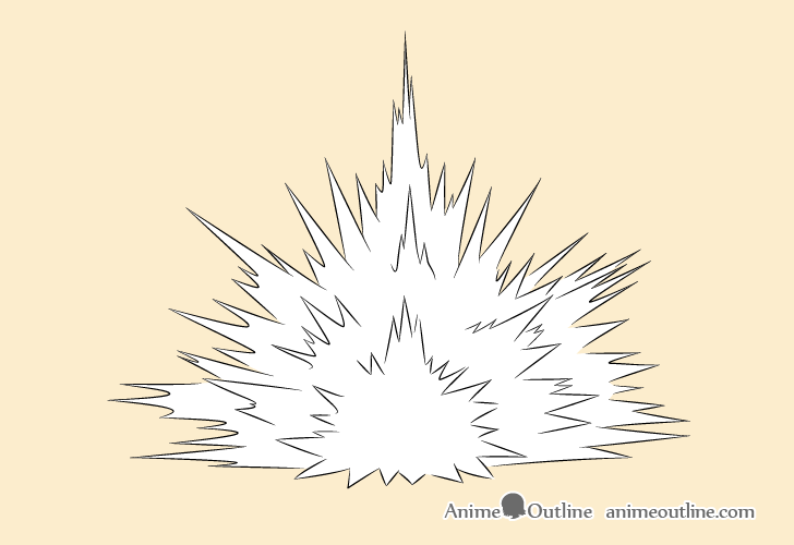 Blast explosion drawing