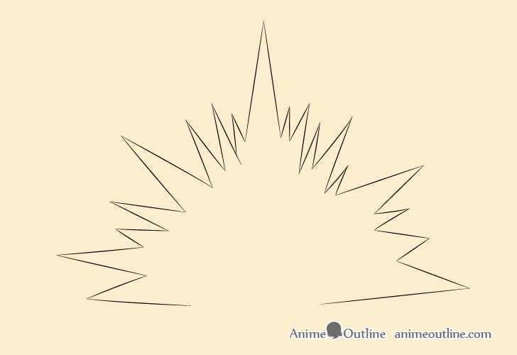 Blast explosion outline drawing