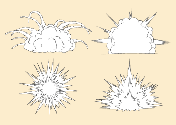 Explosions drawing