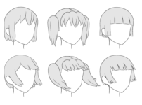 How to Draw Anime Hair in 3/4 View Step by Step