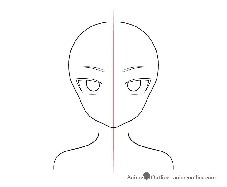 Anime vampire girl eyebrows drawing