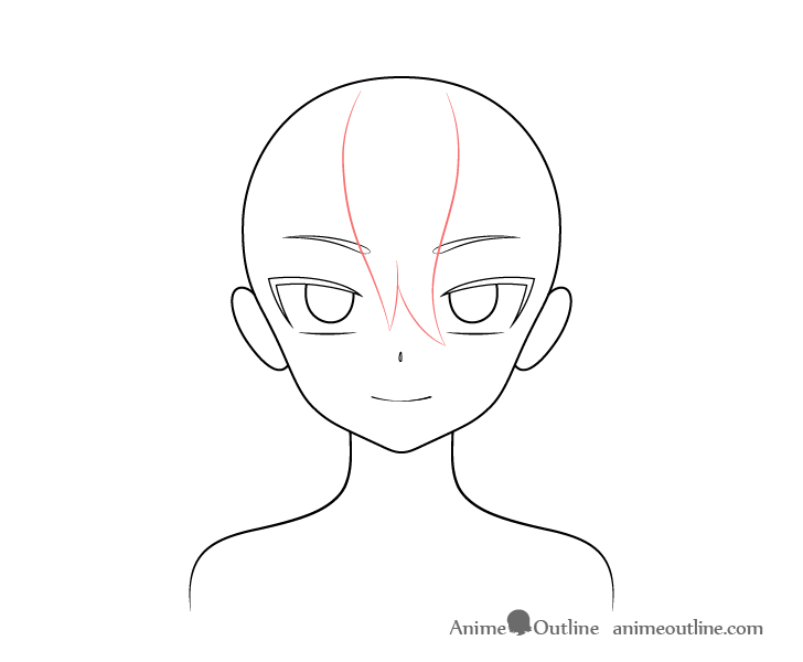 Anime vampire girl hair front drawing