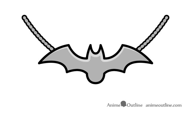 Bat pendant drawing