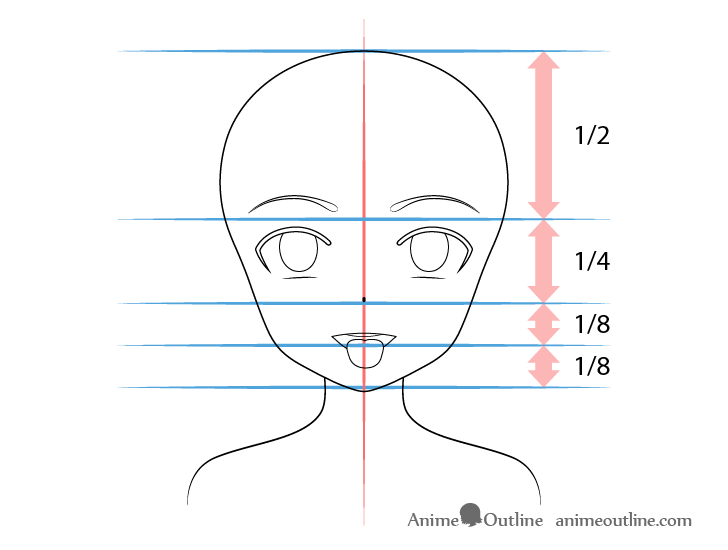 Anime girl open mouth tongue out drawing proportions
