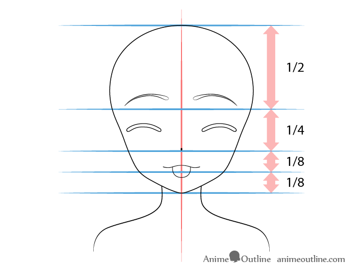 Anime girl tongue out teasing face drawing proportions