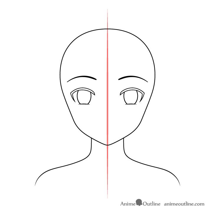 Anime Christmas girl eyebrows drawing