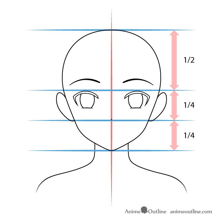 Anime Christmas girl nose drawing