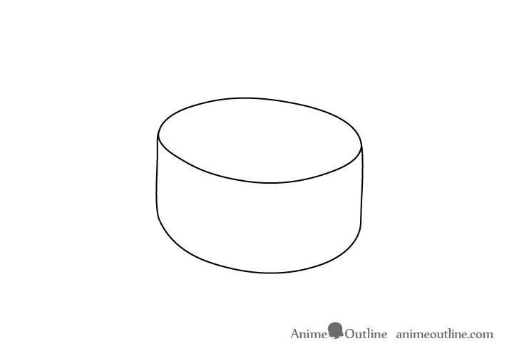 Sushi ikura nigiri outline drawing