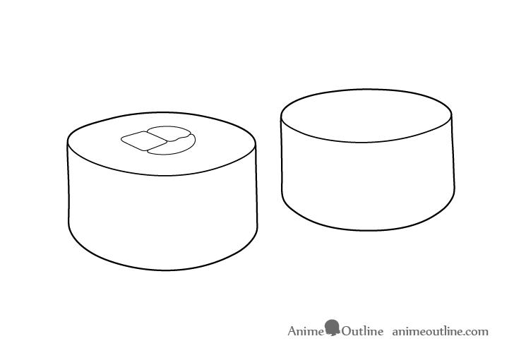 Sushi maki details drawing