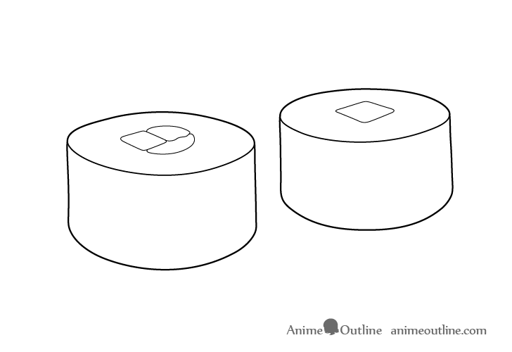 Sushi maki line drawing