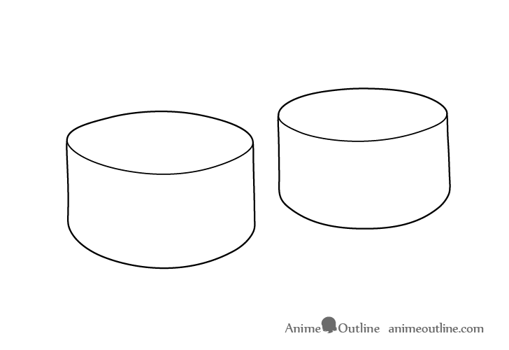 Sushi maki outline drawing