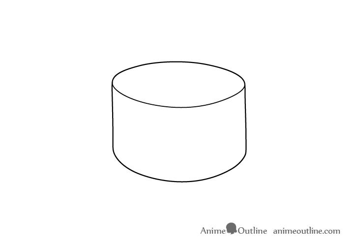 Sushi uramaki drawing
