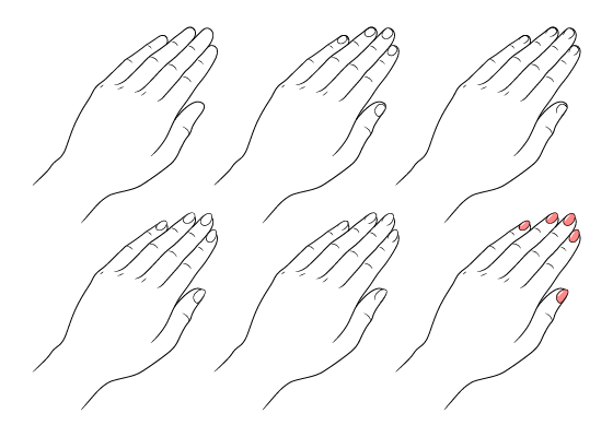 Anime fingernails drawing different ways
