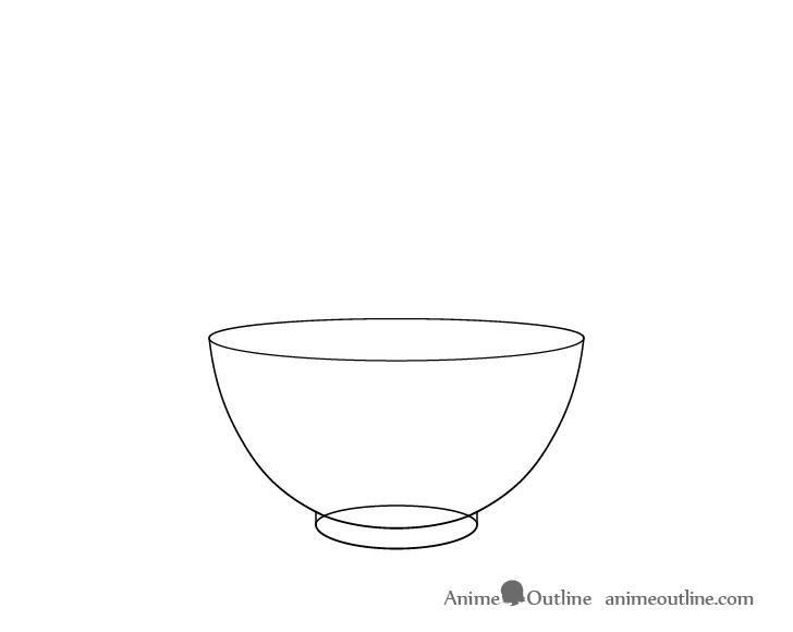 Rice bowl base drawing