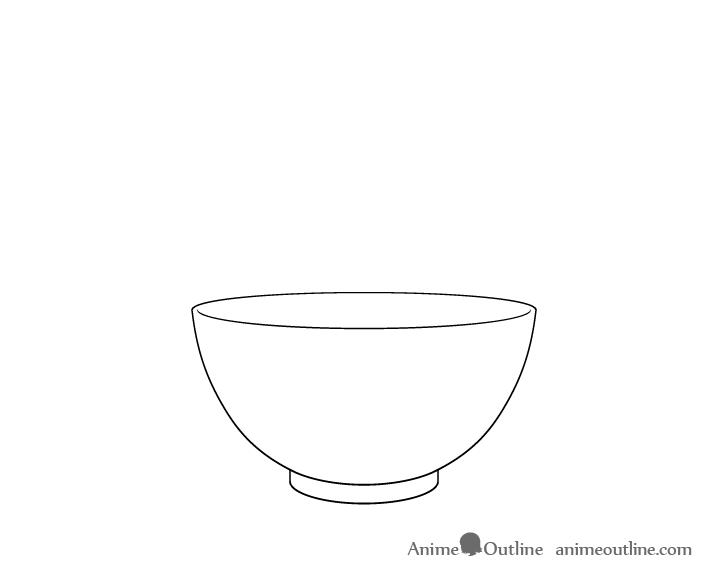 Rice bowl basic line drawing