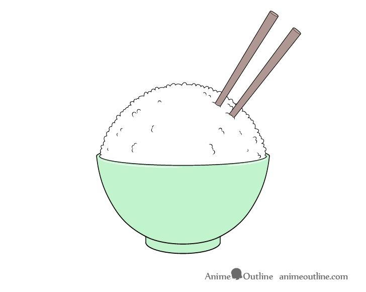 Rice bowl coloring