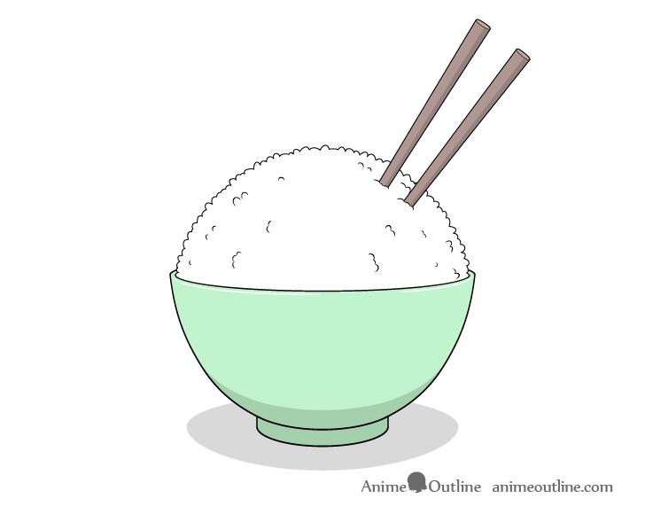 Rice bowl drawing
