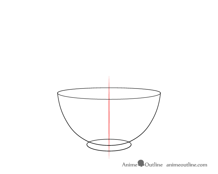 Rice bowl outline drawing