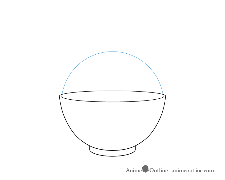 Rice bowl rice outline drawing