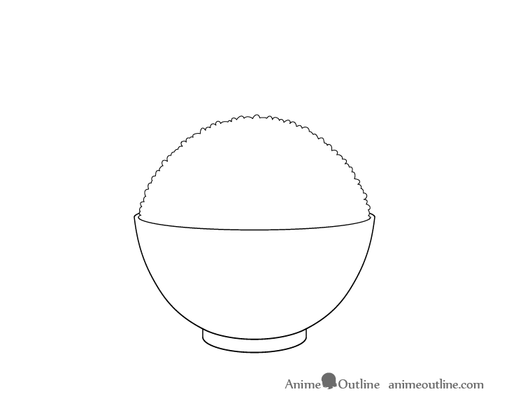 Rice bowl rice shape drawing