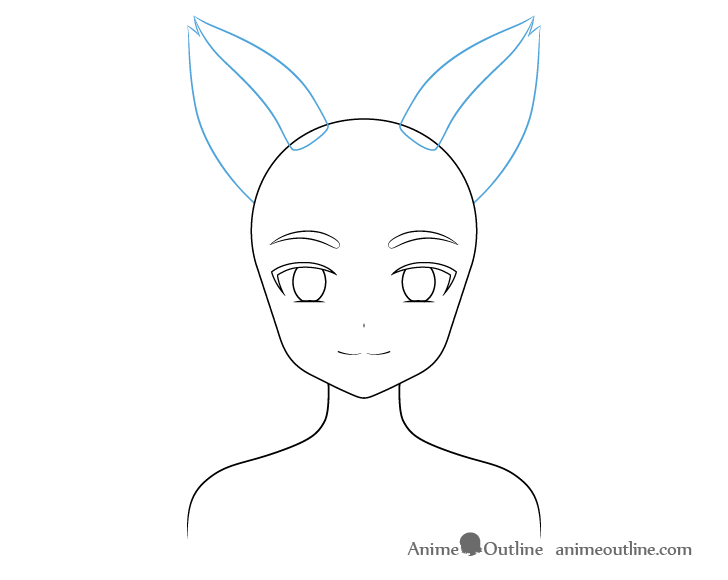 Anime fox girl ears drawing